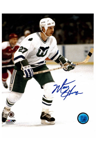 Hartford Whalers Marty Howe 8x10 Autograph Photo