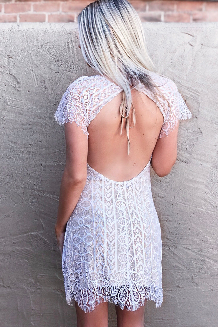 The Lacie Dress - Off White/Nude - BACK IN STOCK