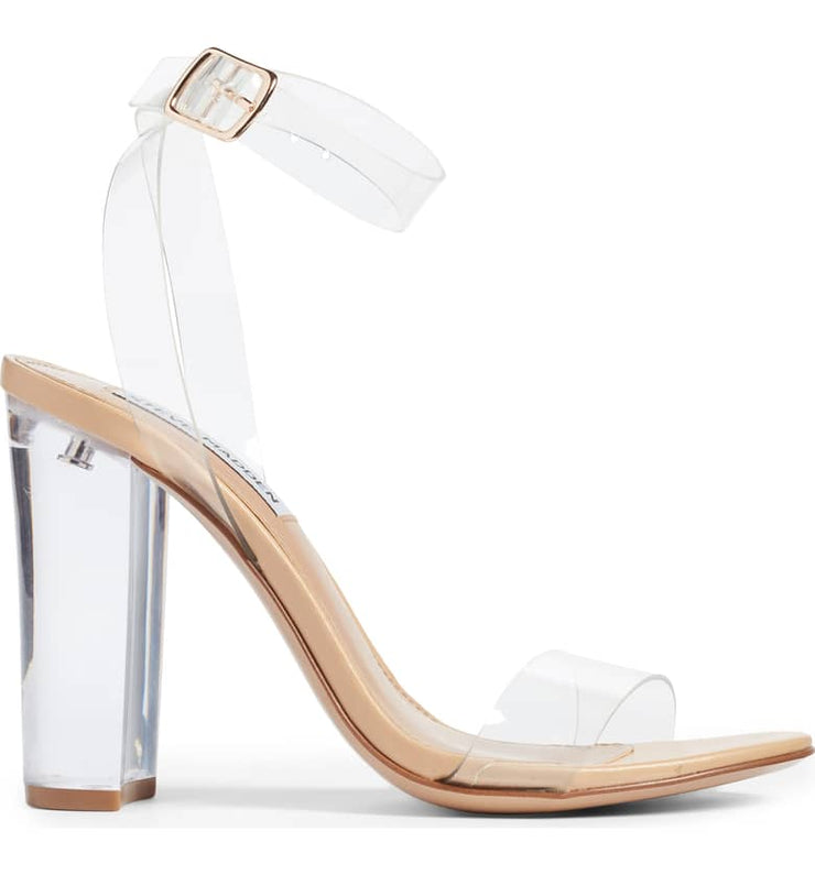 8a1357bc2f6 Steve Madden Camille Heel - Clear Nude – GRAND CENTRAL CLOTHING