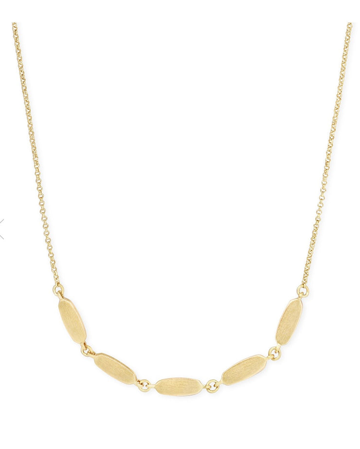 Fern Collar Necklace in Gold