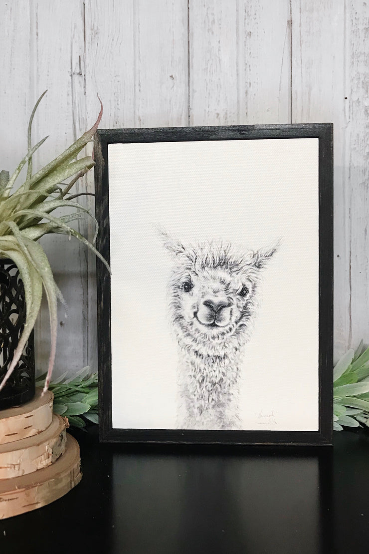 Llama Draw You A Portrait - Hannah