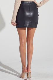PREORDER Paloma Pleather Skirt Black