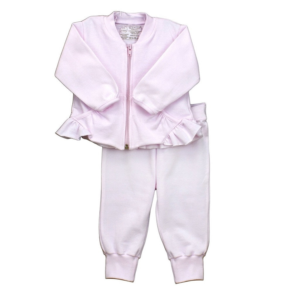Rapife AW20 Pink Ruffle Tracksuit - Option to Personalise