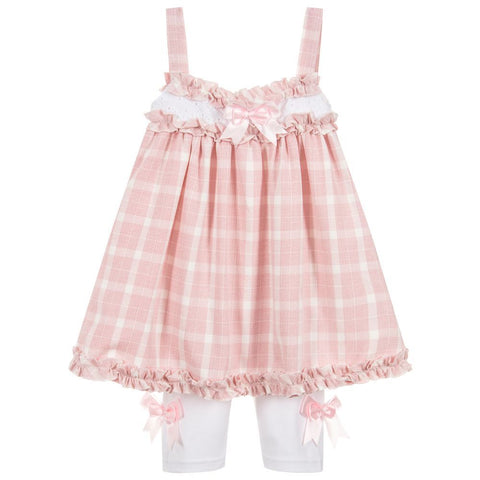 Beau Kid Pink Bow Legging Set