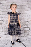 Beau Kid Navy Tweed Dress