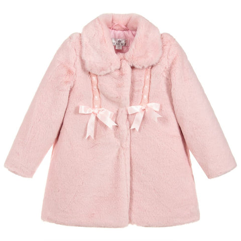 Beau Kid Faux Fur Pink Coat
