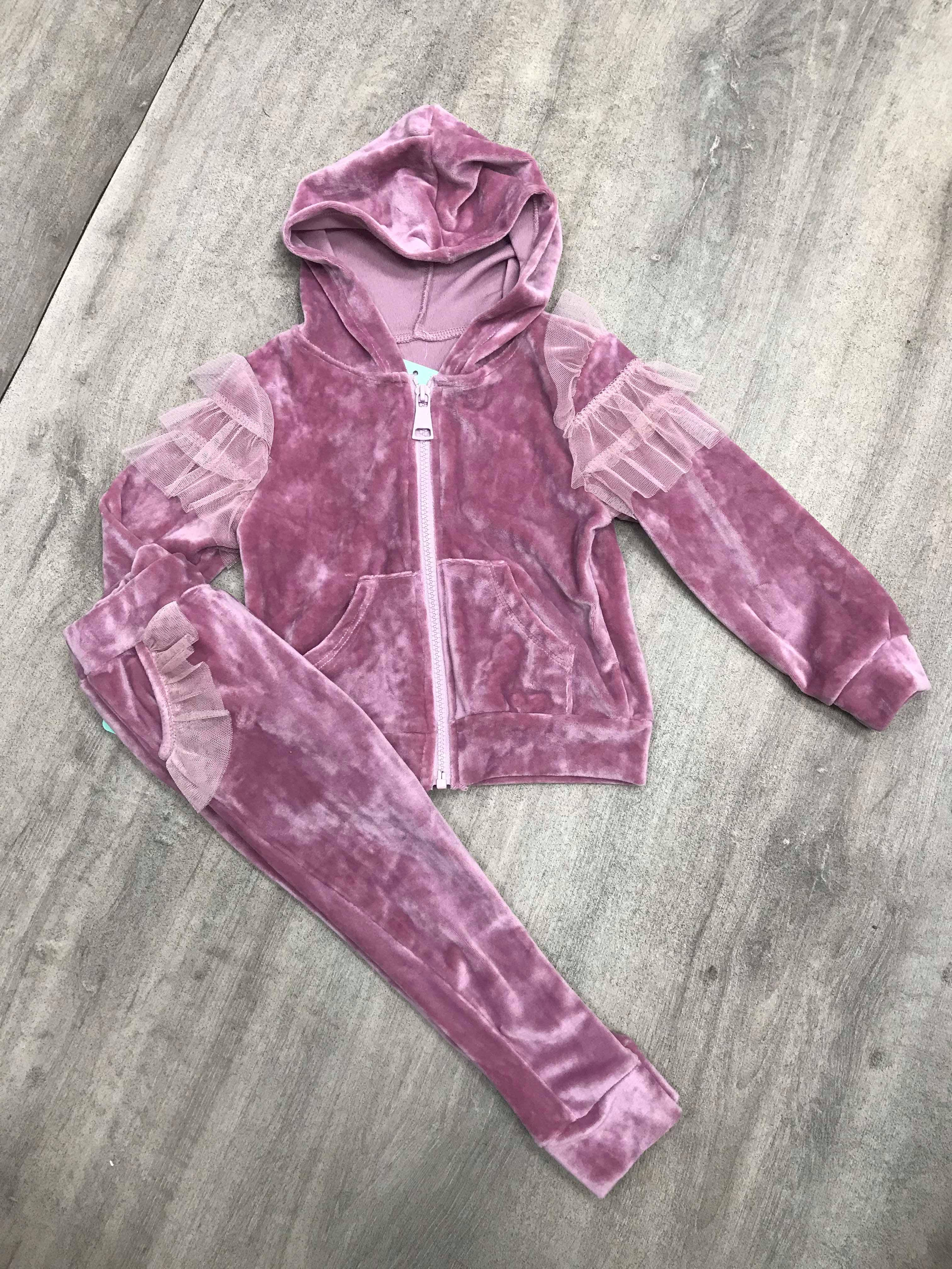 Pink Velour Tracksuit