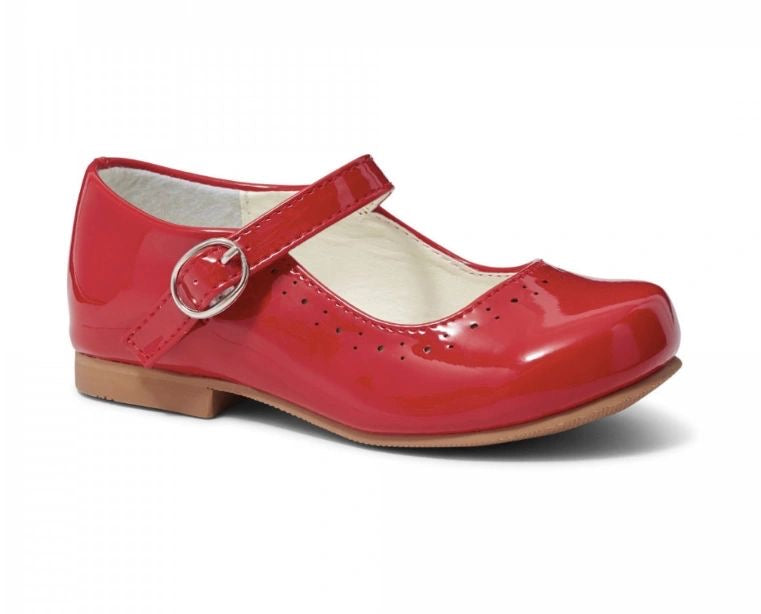 Abbey Red Hard Sole Shoes