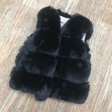 Faux Fur Gilet Black