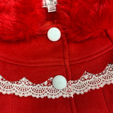 Beau Kid Red Pom Pom Coat
