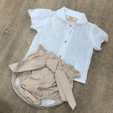 Caramelo Kids Camel Short Set
