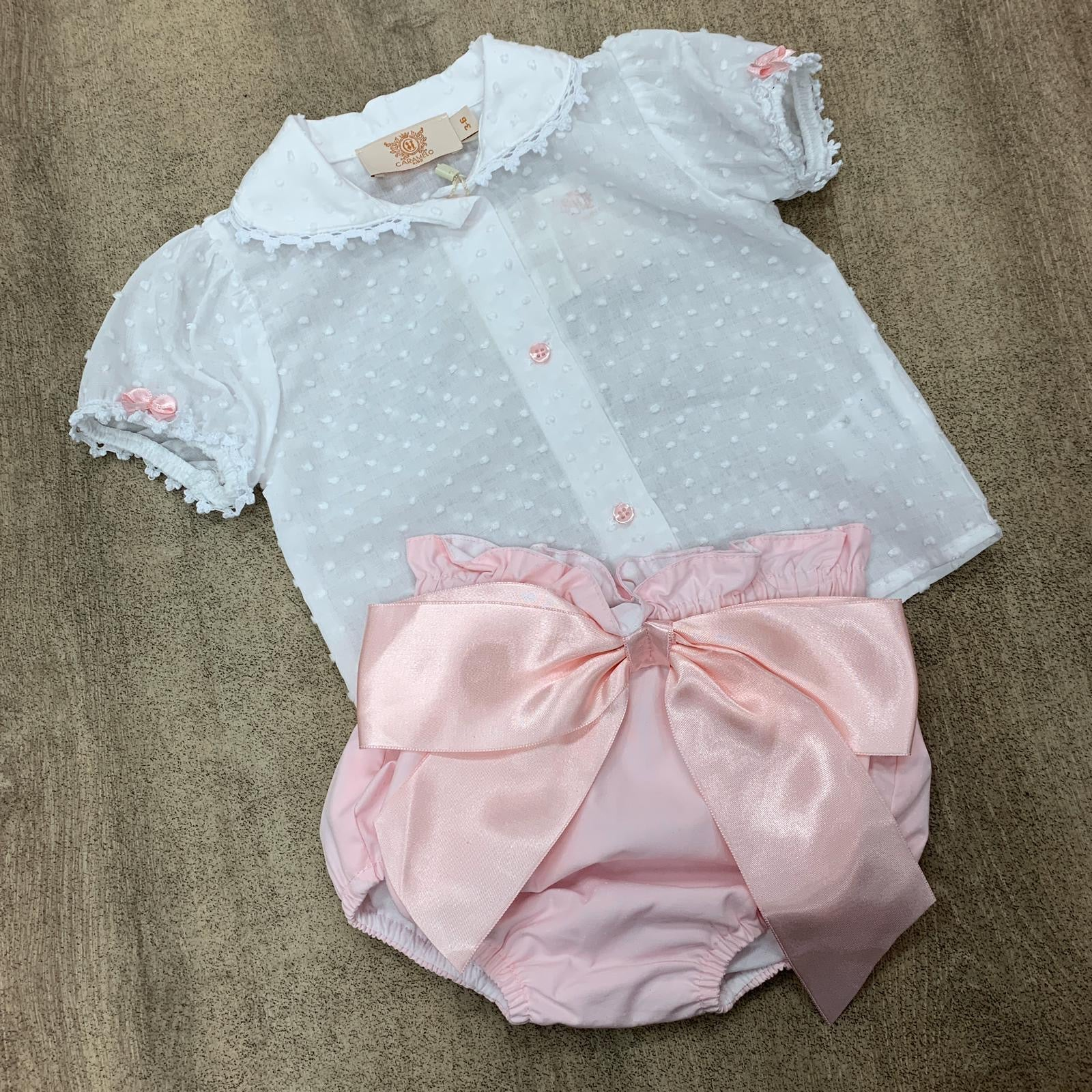 Caramelo Kids Pink Short Set