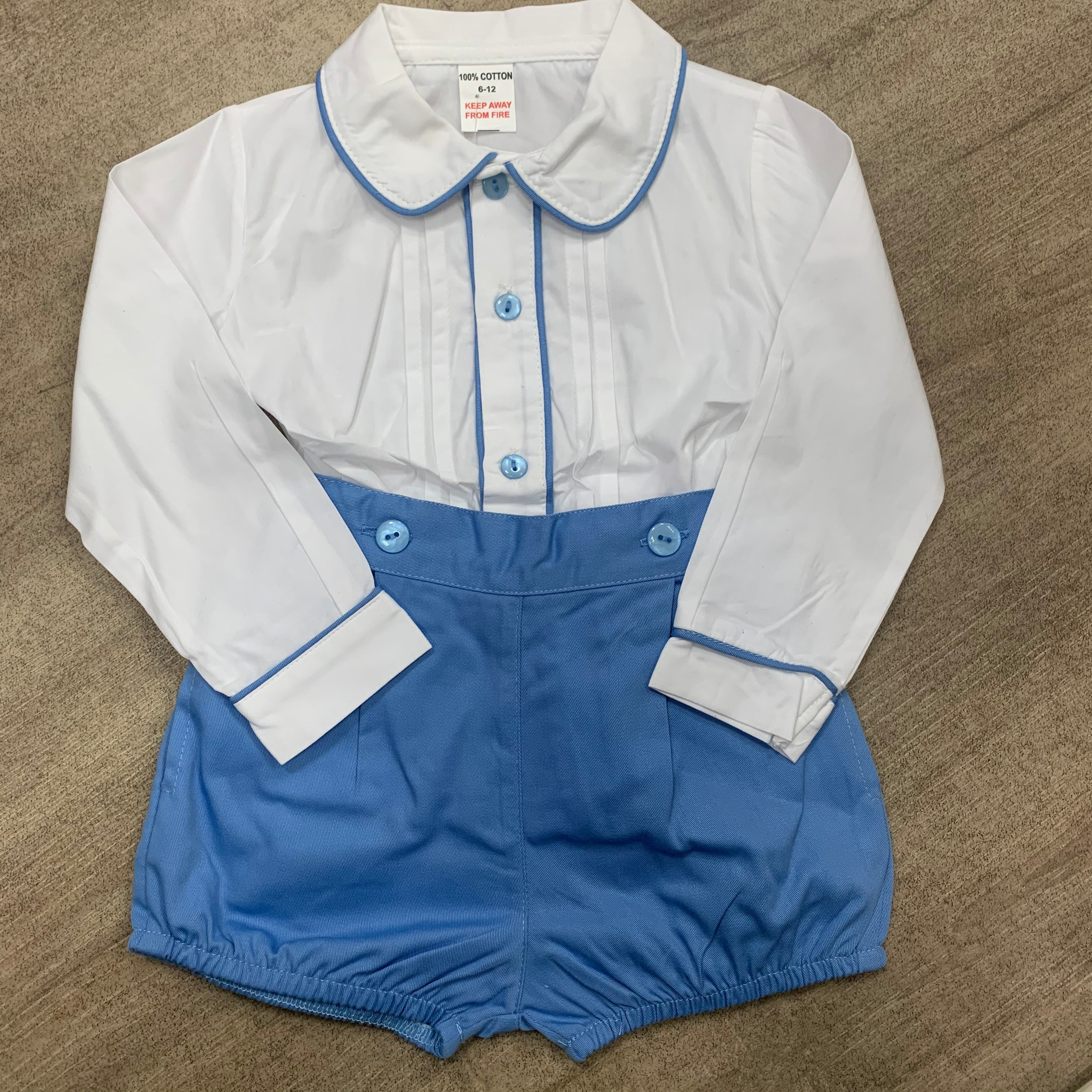 Boys Traditional Short Set Blue