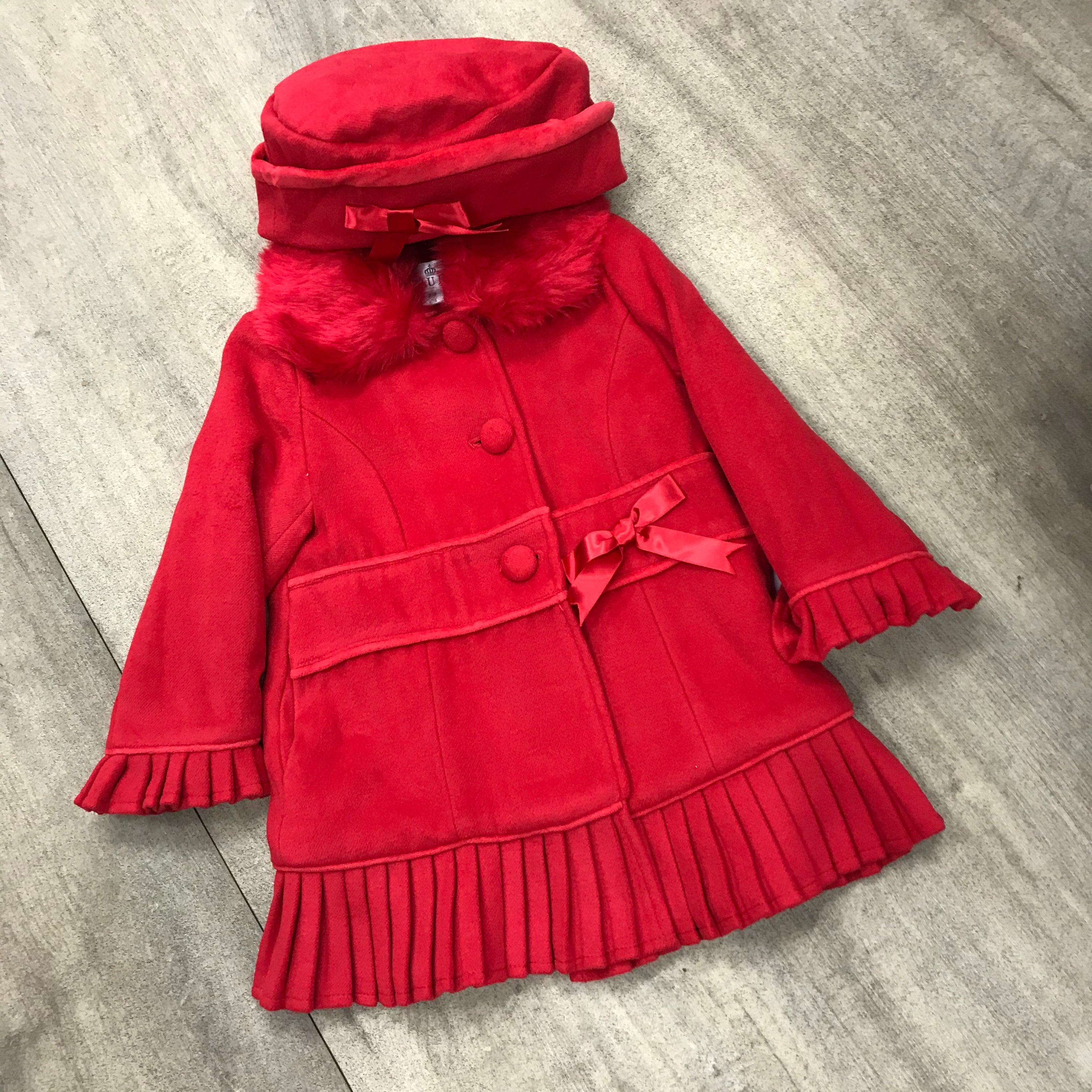 Beau Kid Classic Style Red Coat