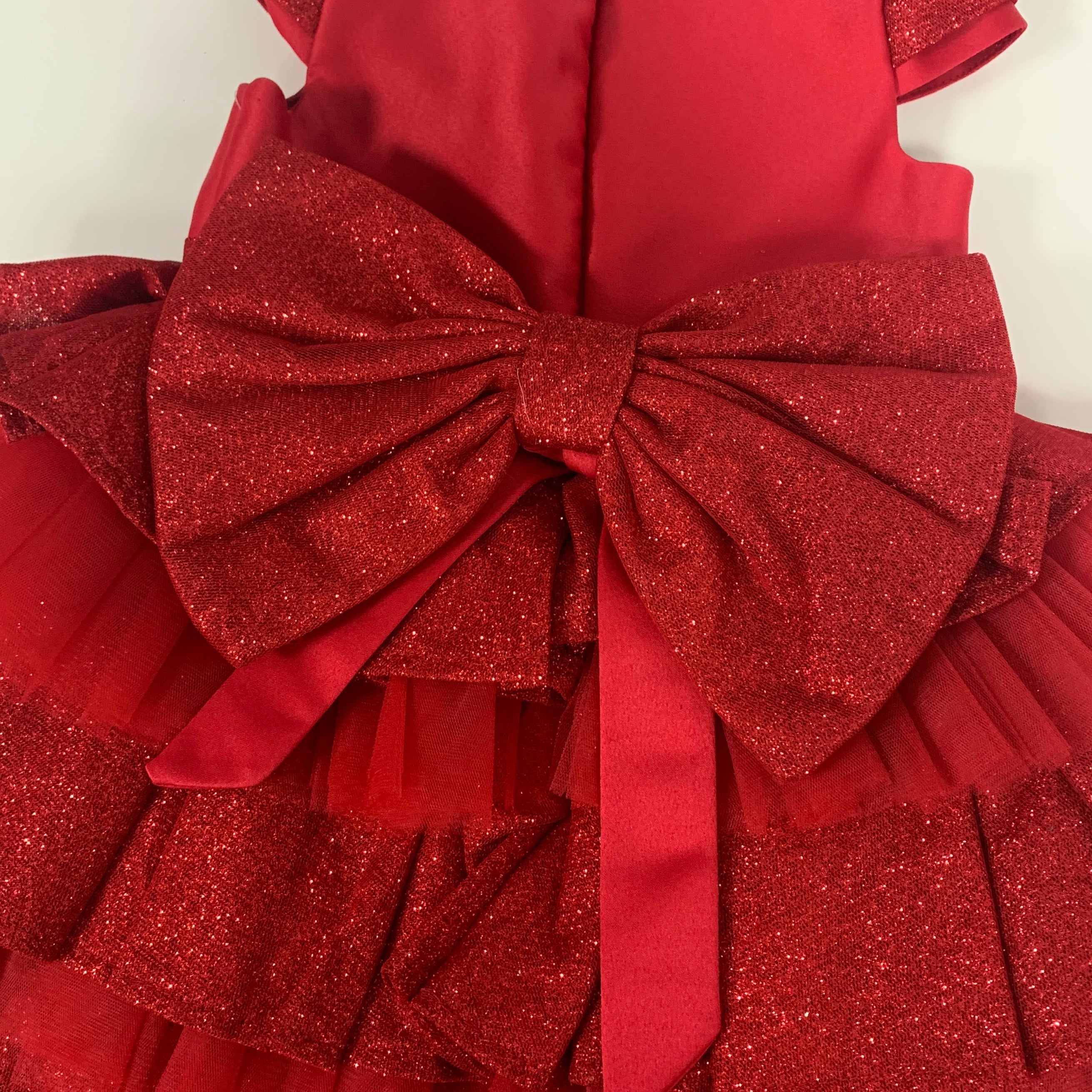 Caramelo Kids Glitter Tutu Red Dress