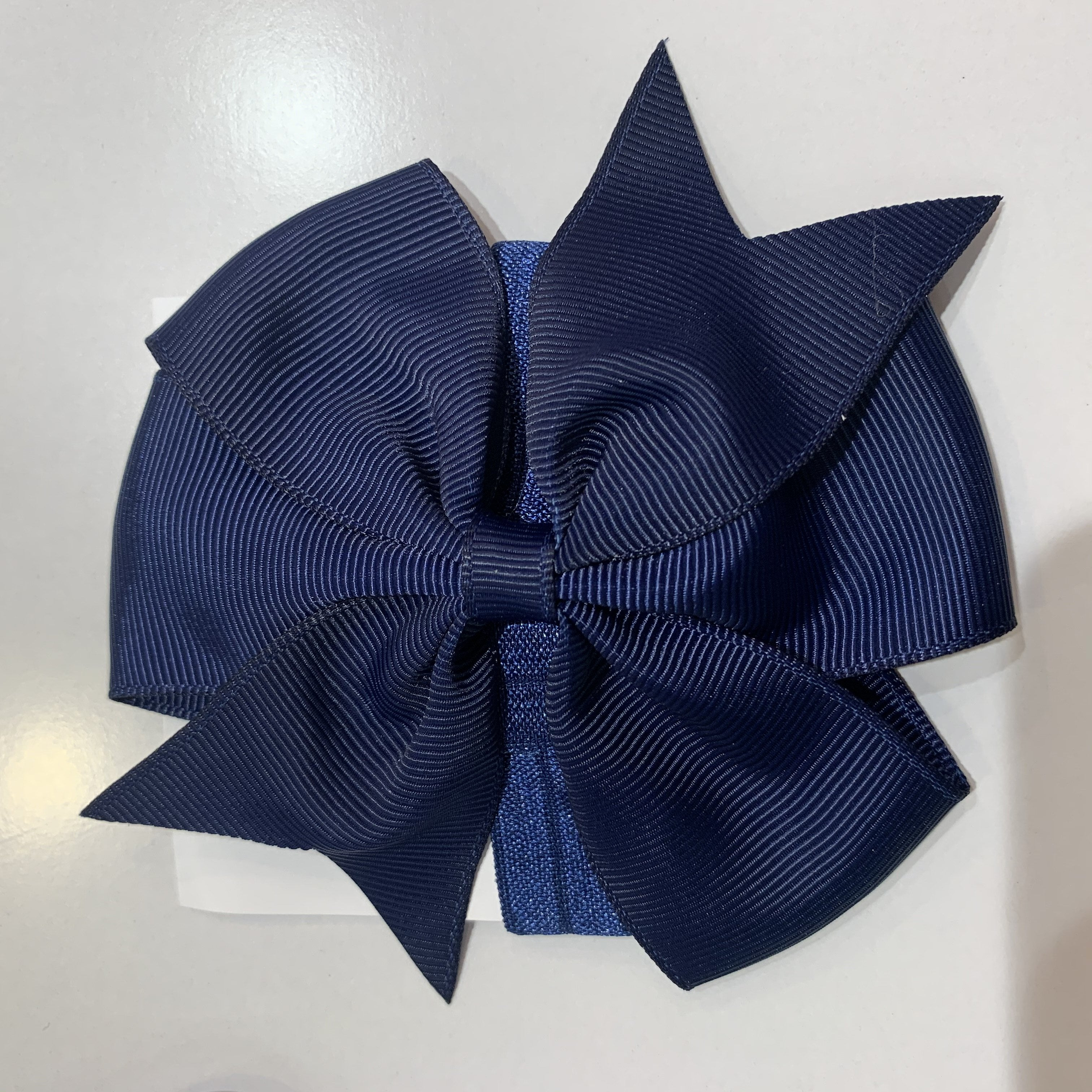 Pinwheel Bow / Headband Duo Navy