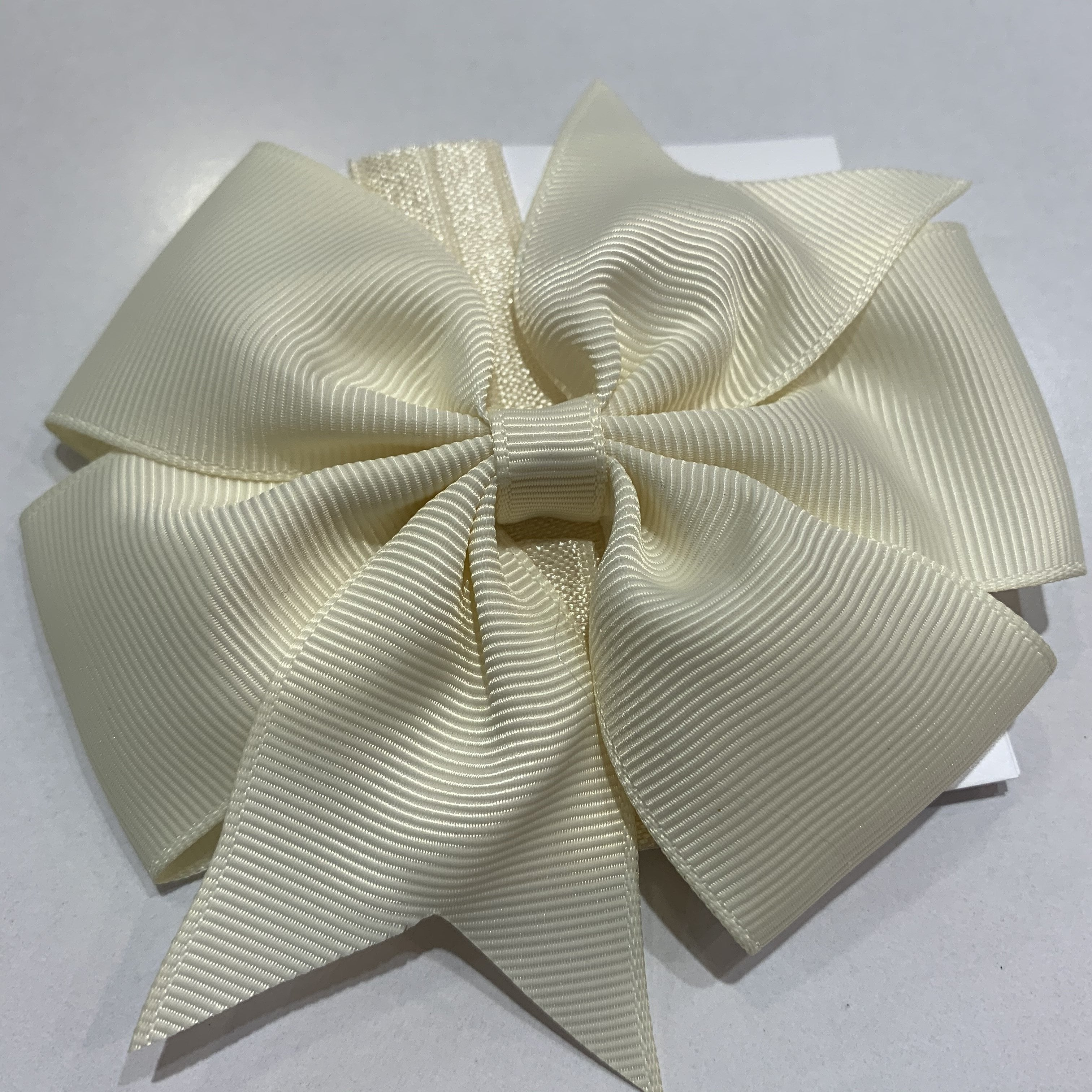Pinwheel Bow / Headband Duo Cream