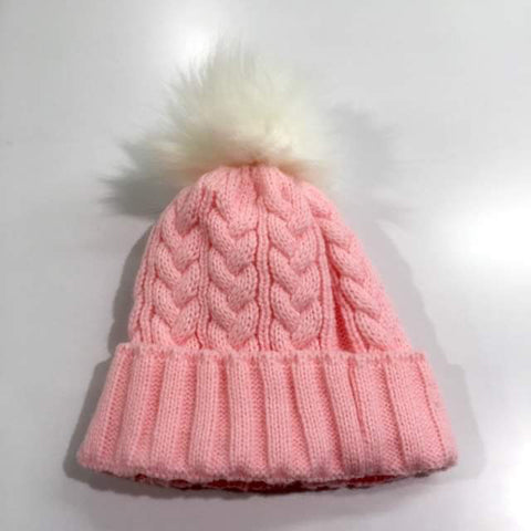 Pink Single Pom Pom Hat