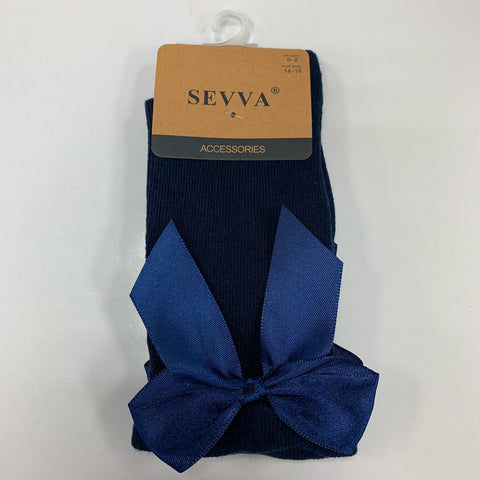 Navy Bow Socks