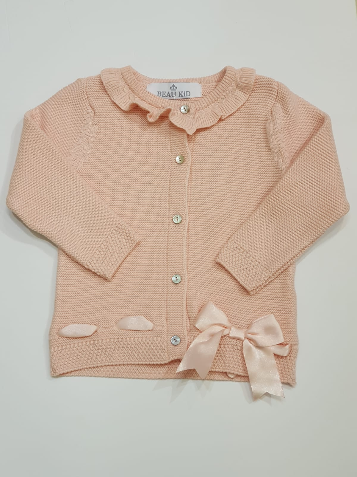 Beau Kid Pink Bow Cardigan