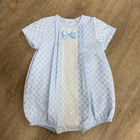 Spanish Unisex Blue Bubble Romper