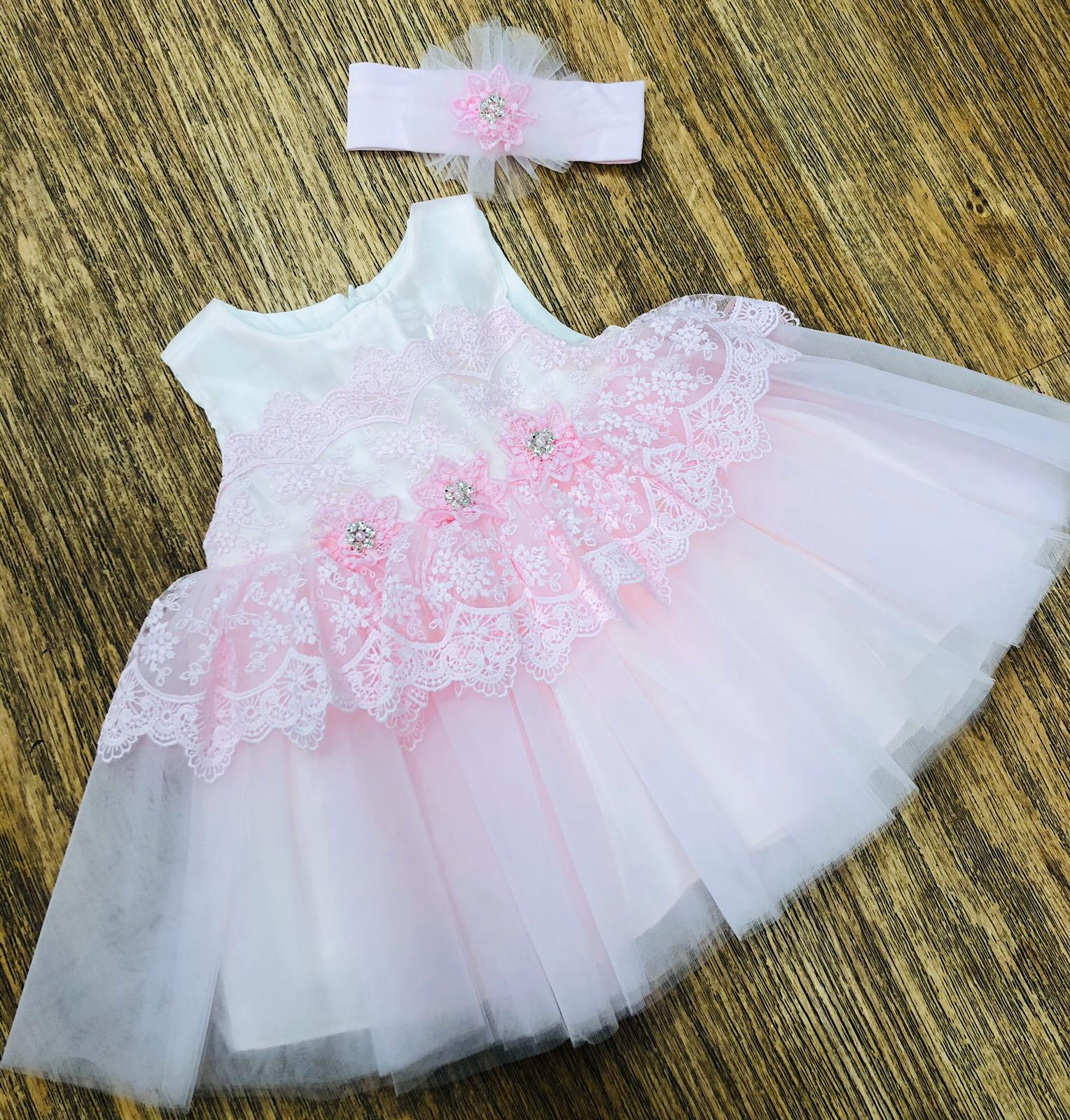 Caramelo Kids Pink Flower Tutu Dress