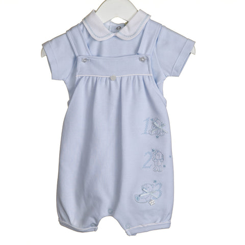 "Blues Baby Dungaree ""123"" Set"