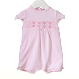 Blues Baby Smocked Heart Cotton Romper