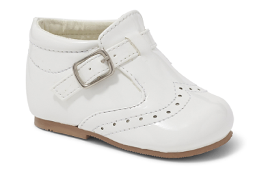 Sevva Mark White Buckle Shoe