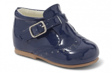 Sevva Mark Navy Buckle Shoe