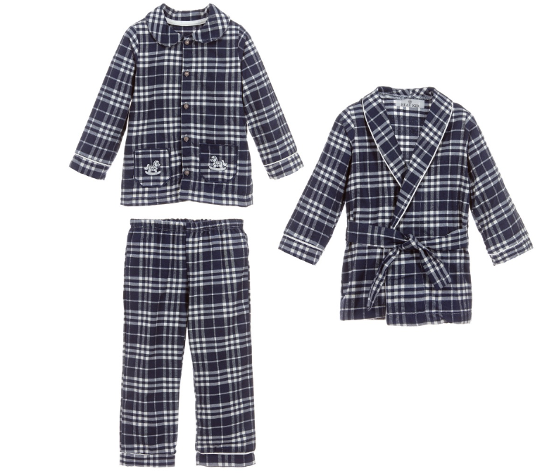 Beau Kid 3 Piece Navy Night Set