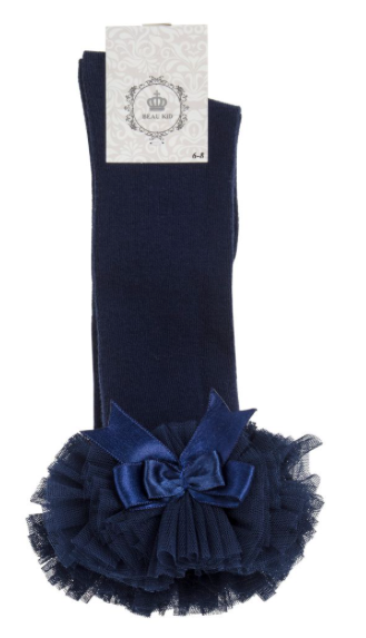 Navy Tutu Socks