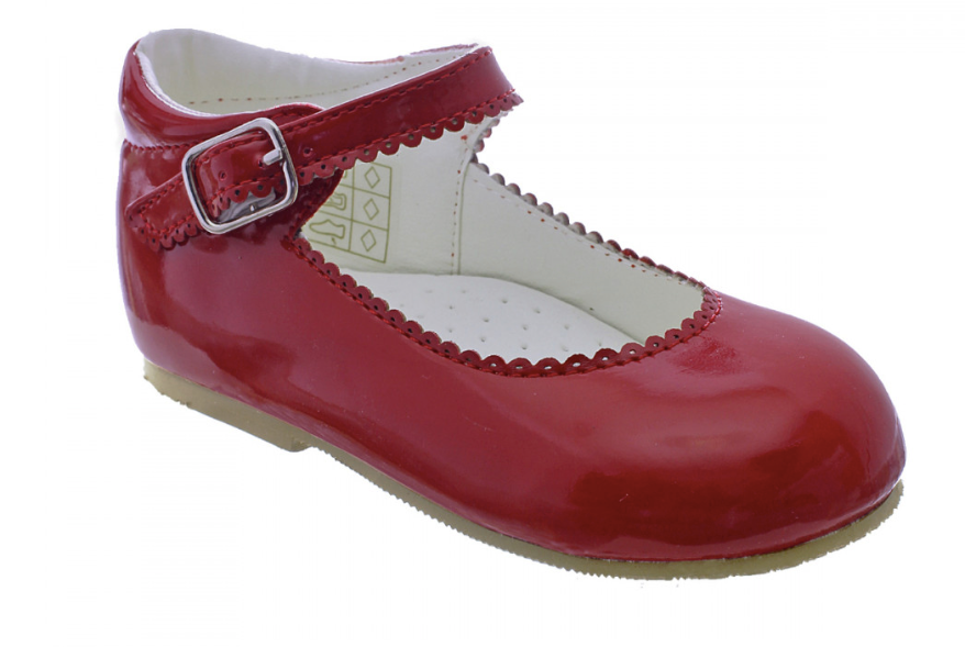 Camila Red Hard Sole Shoe