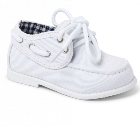 White Gavin Boys Hard Sole Shoe