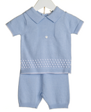 Blues Baby Harry Traditional 2 PC Short Set Sky Blue