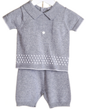 Blues Baby Rory Traditional 2 PC Short Set Grey