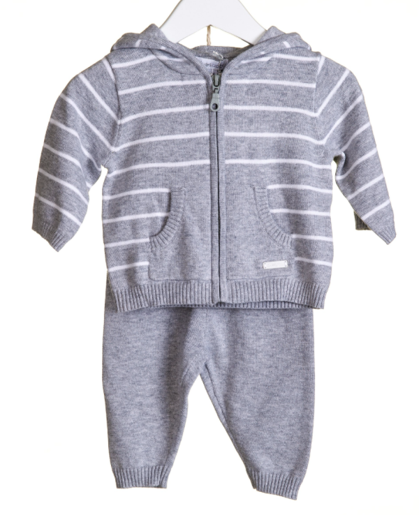Blues Baby Stripe Tracksuit Grey
