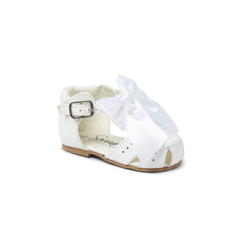 Terri Bow Sandals White