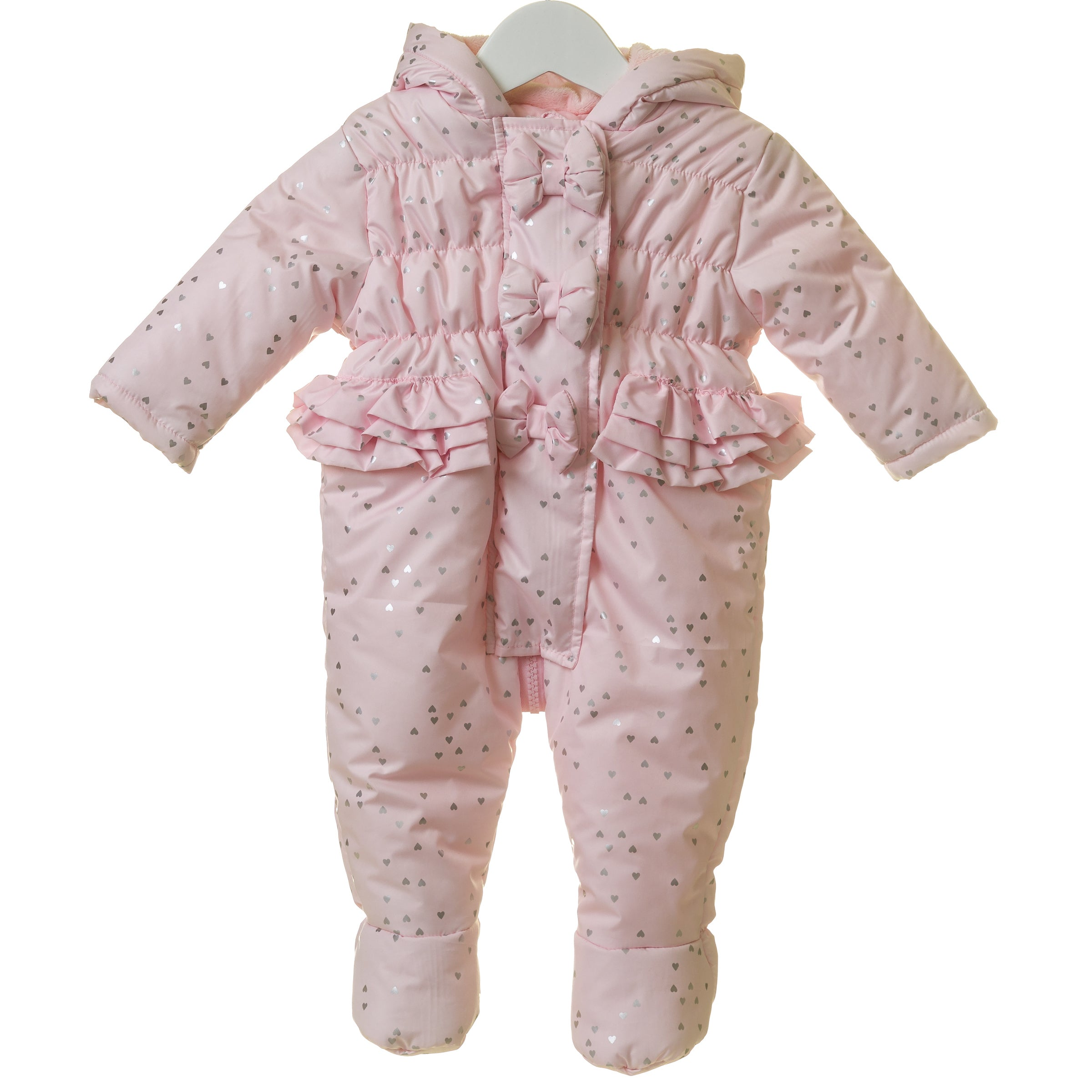 Blues Baby Sparkle Heart Snowsuit