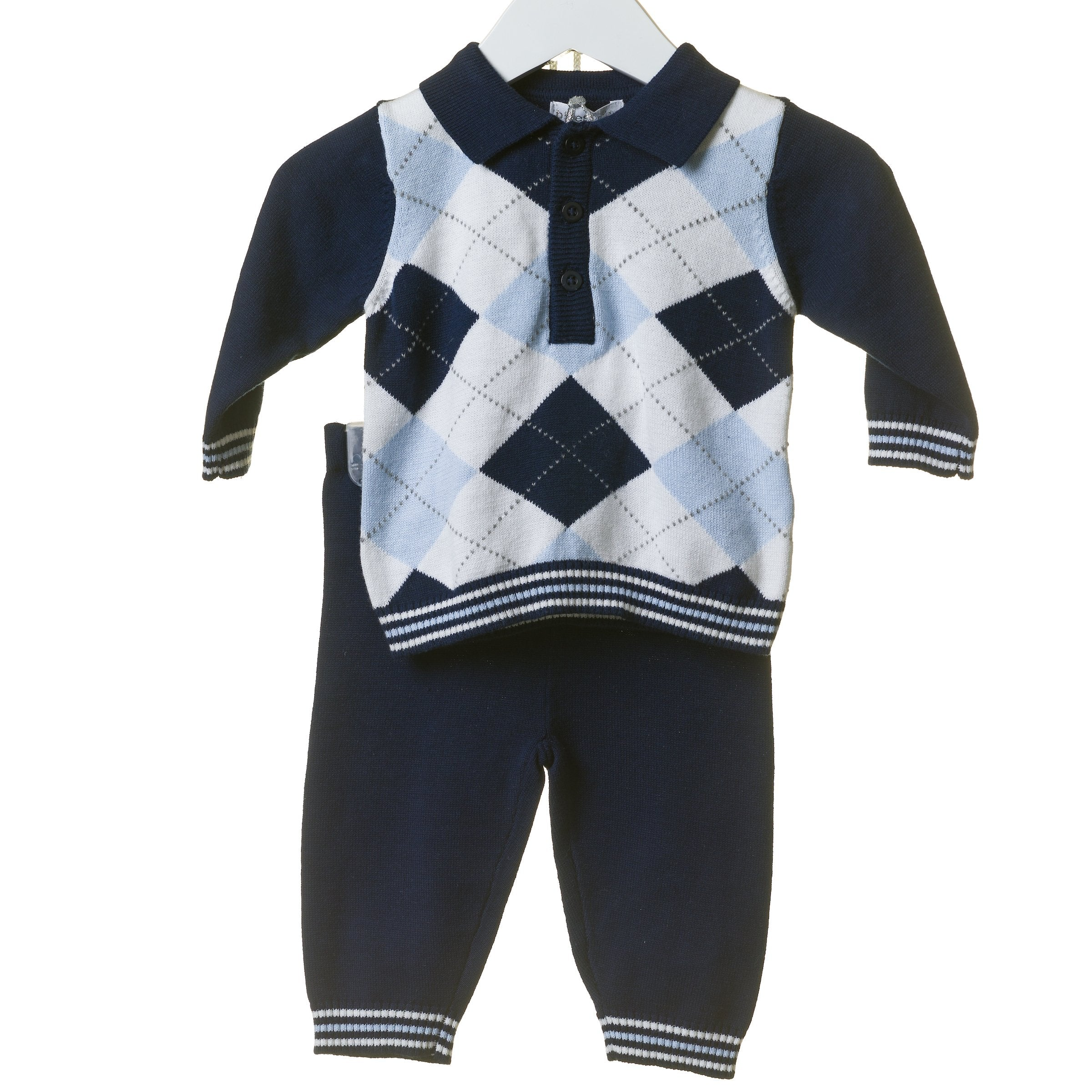 Argyle Navy Blues Baby Tracksuit