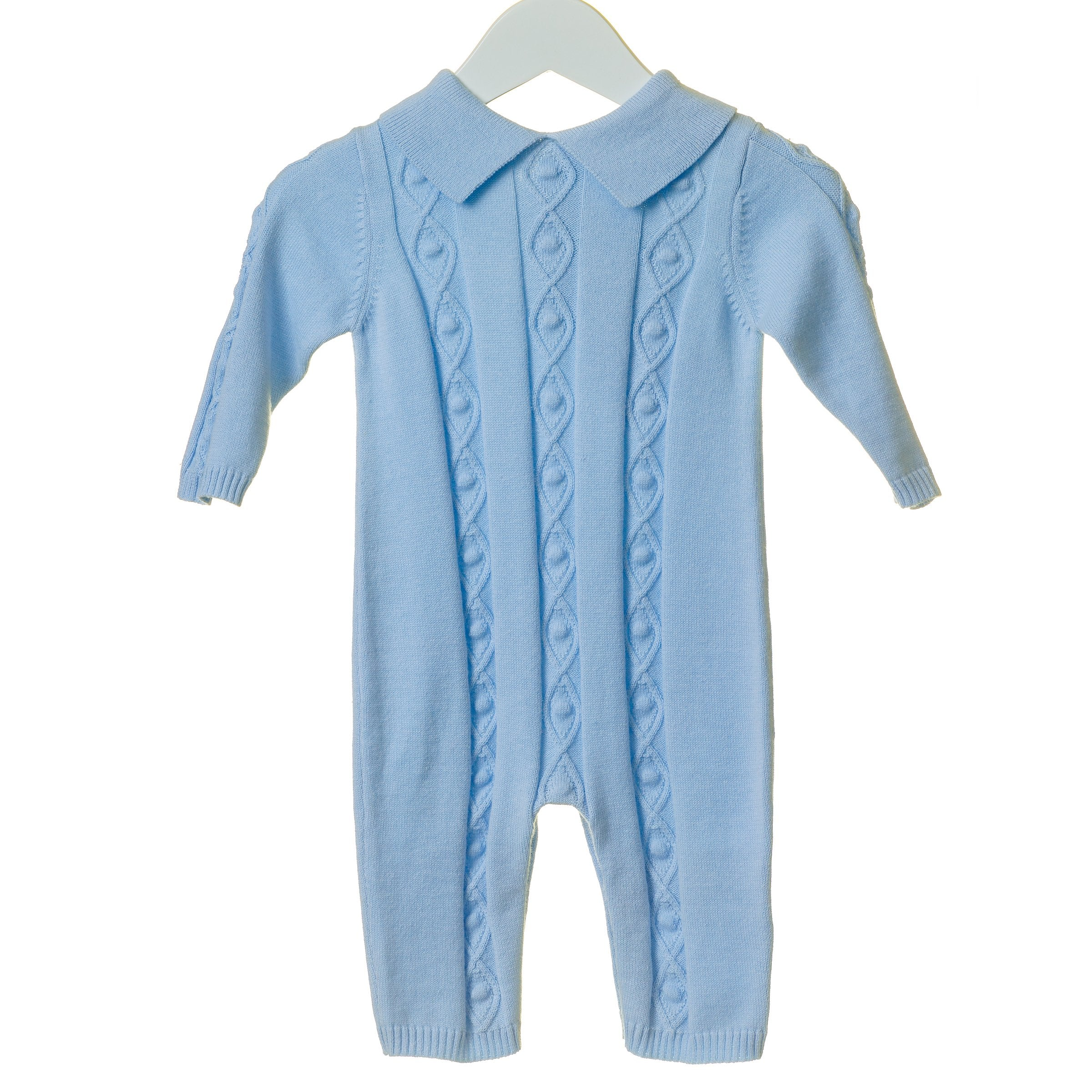 Blues Baby Knitted Diamond Romper