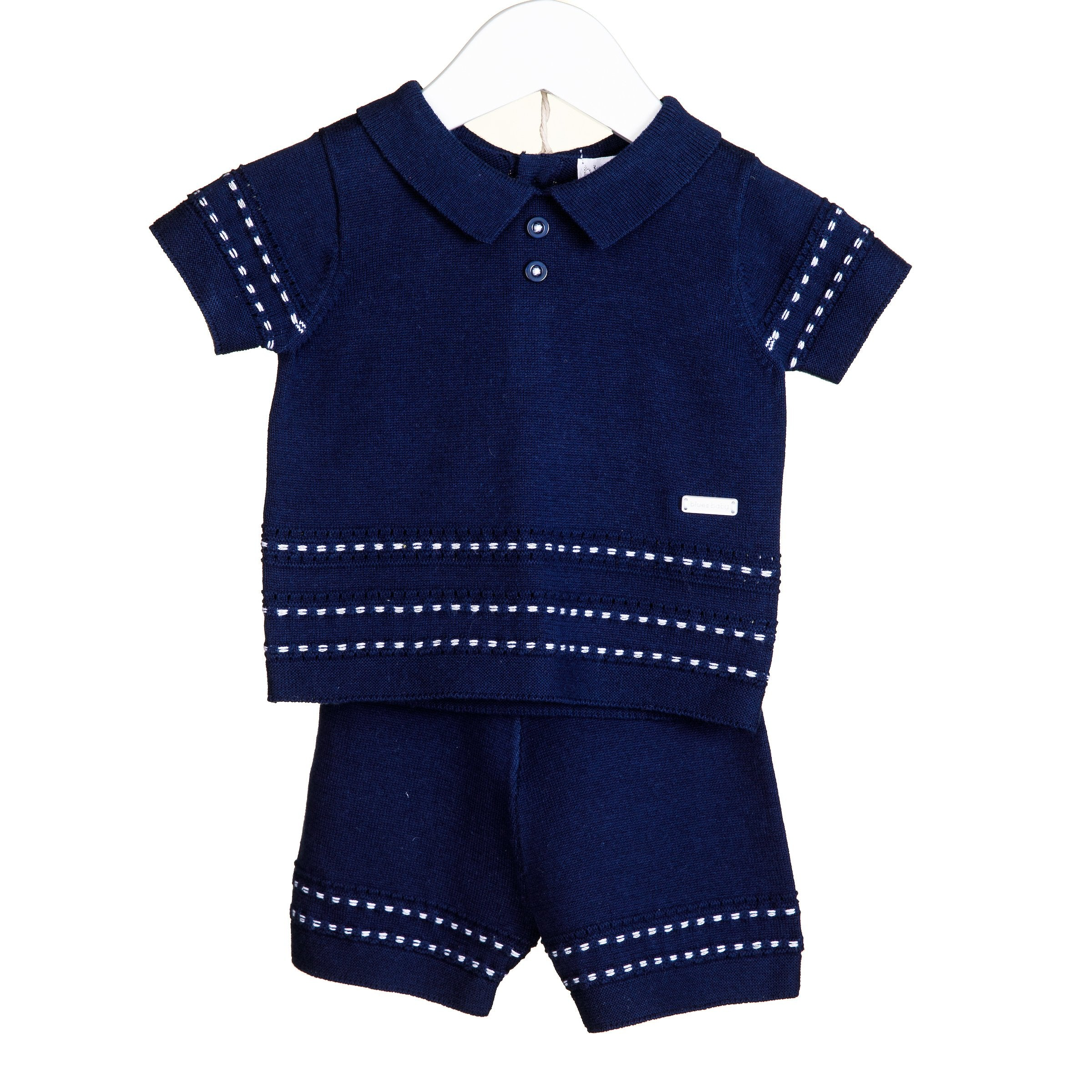 Blues Baby Harry Traditional 2 PC Short Set Navy