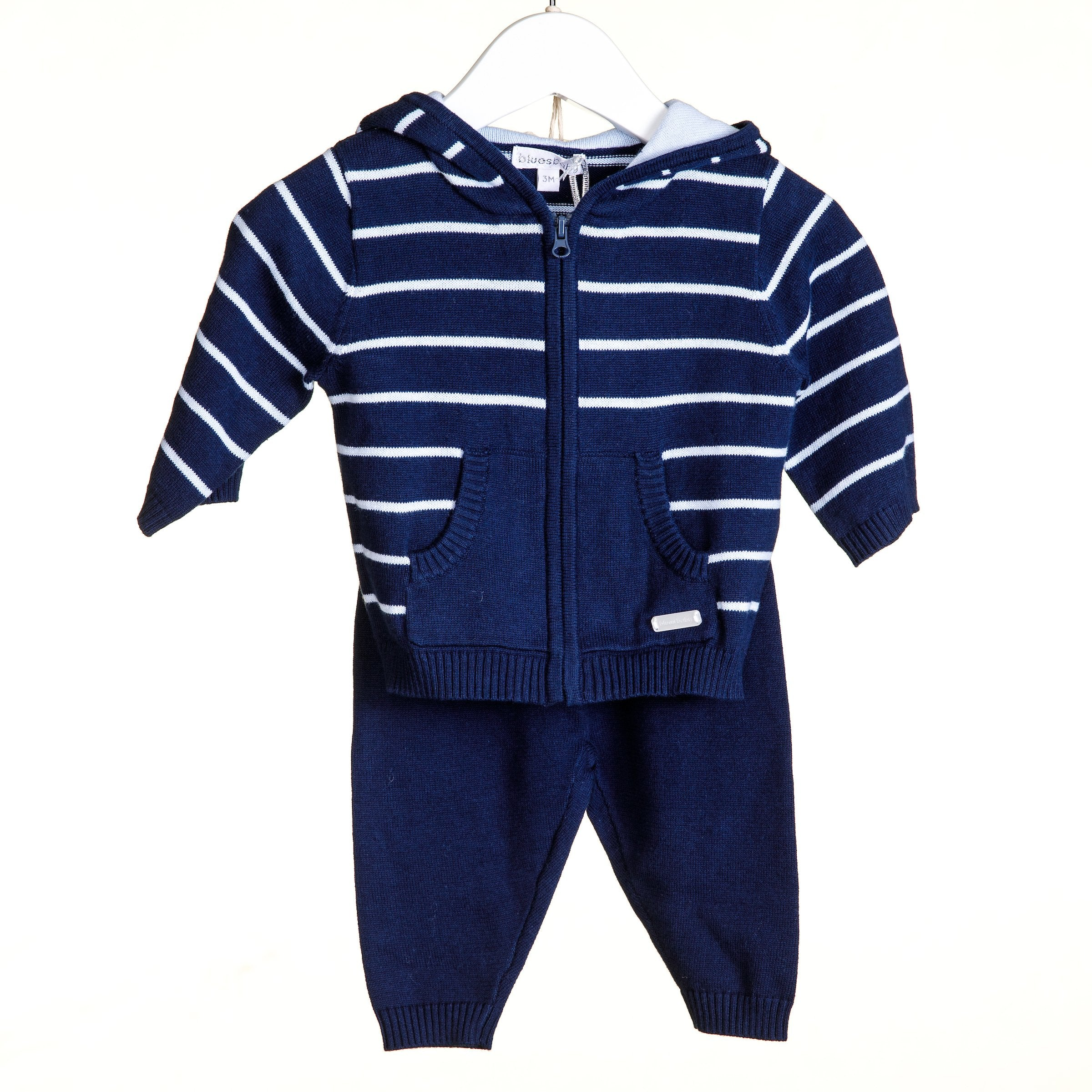 Blues Baby Stripe Tracksuit Navy Blue