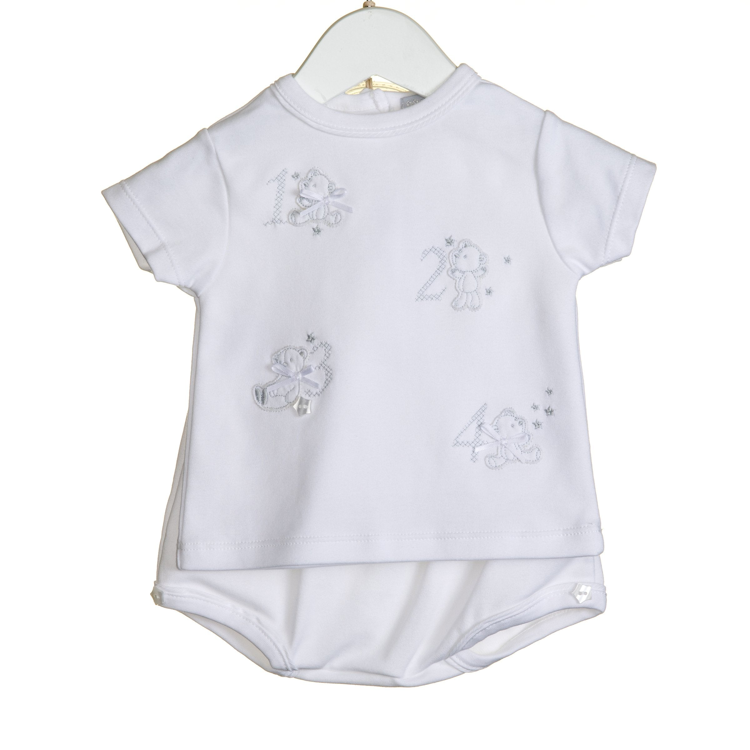 "Blues Baby Unisex ""123"" Short and Bloomer Set"