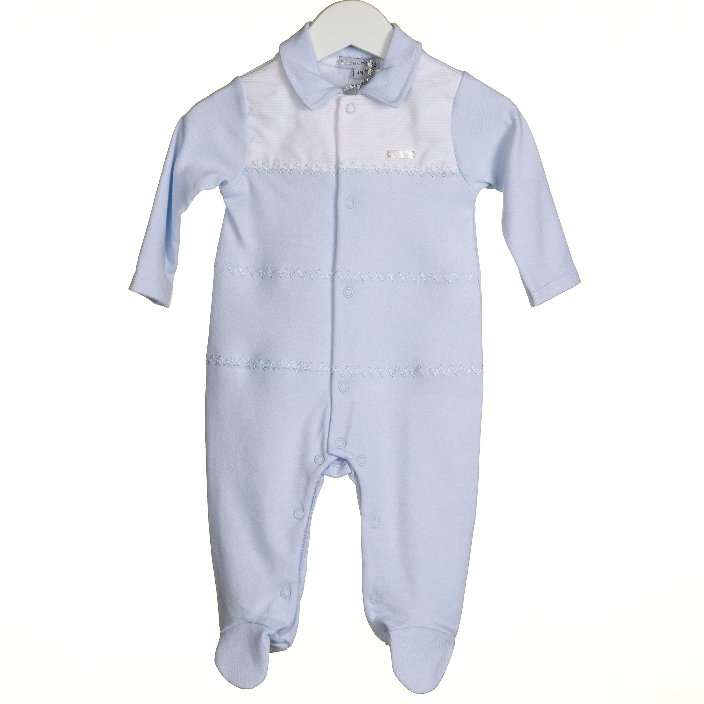 Blues Baby Classic Sky Blue Sleepsuit