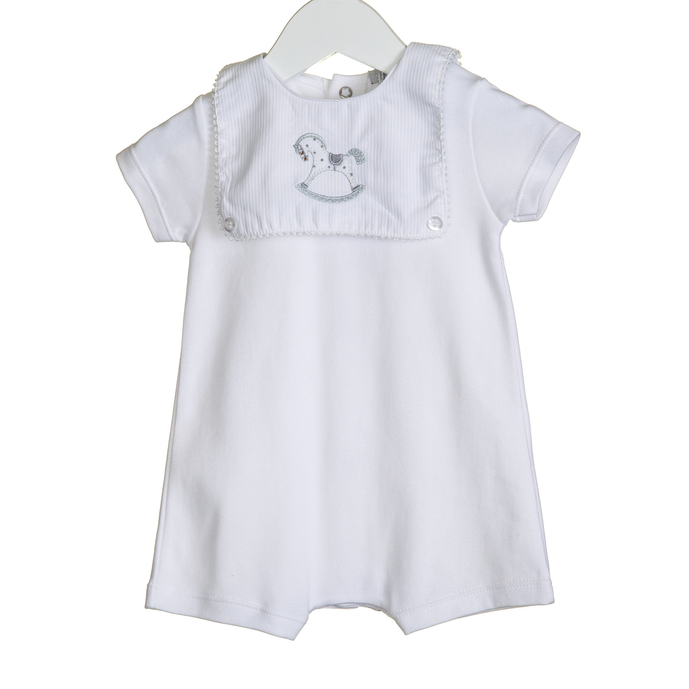 Blues Baby Rocking Horse Romper