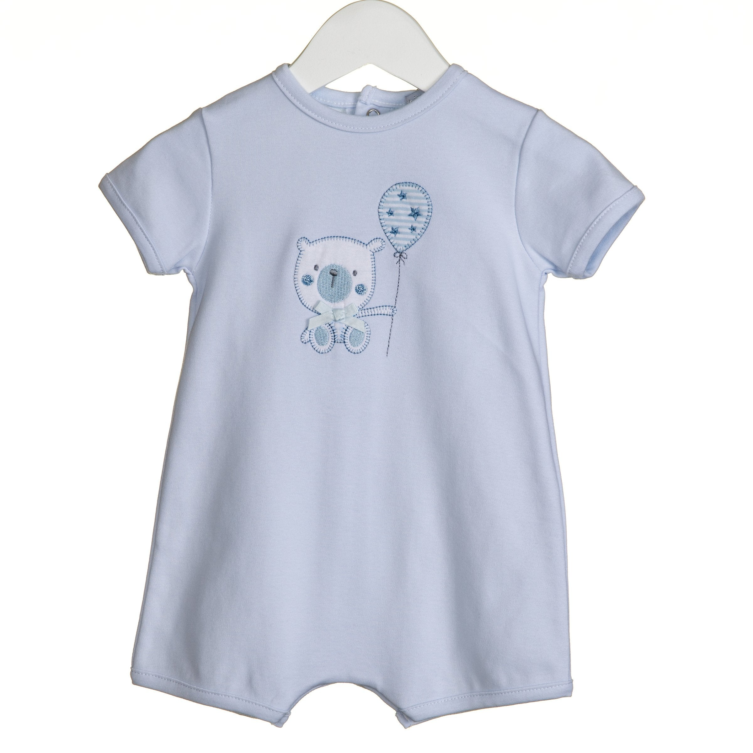 Blues Baby Teddy Romper Blue