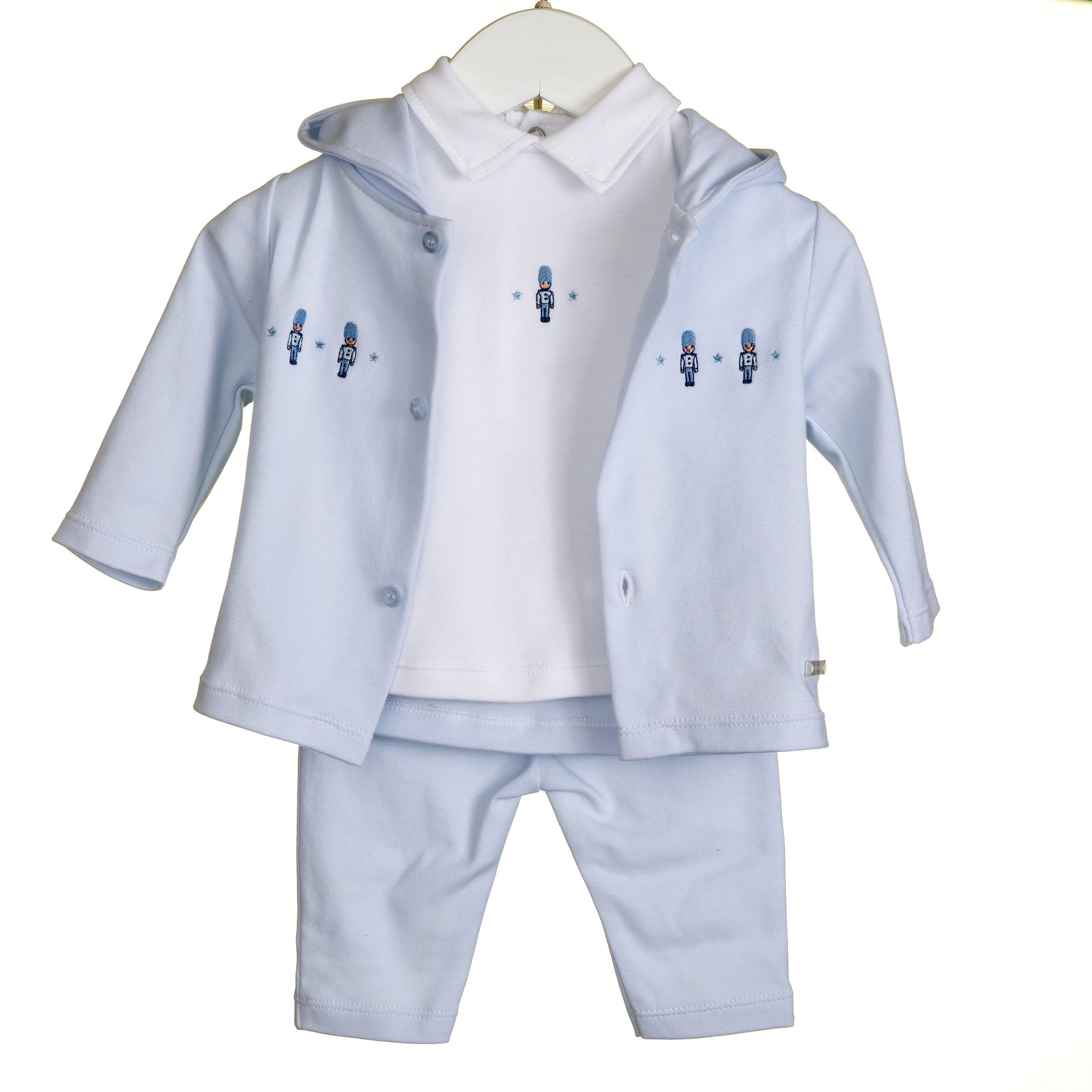 Blues Baby 3pc Solider Outfit