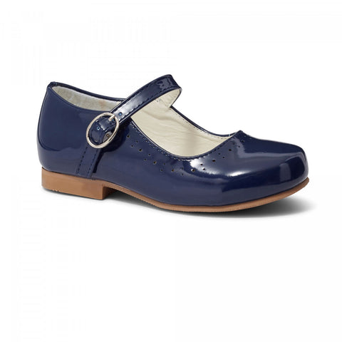 Abbey Navy Hard Sole Shoes