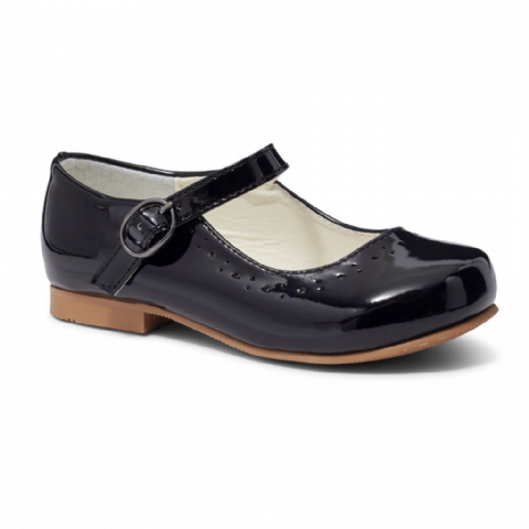 Abbey Black Hard Sole Shoes
